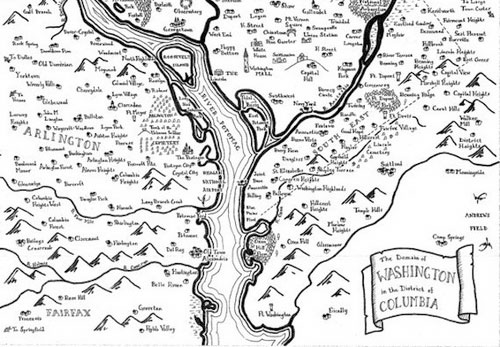 "A different kind of ""fantasy map"": DC, Tolkien-style"