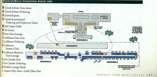 Maps United Iad Gates Airlines