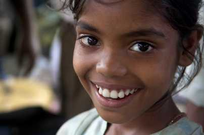 Young smiling girl, Delhi India