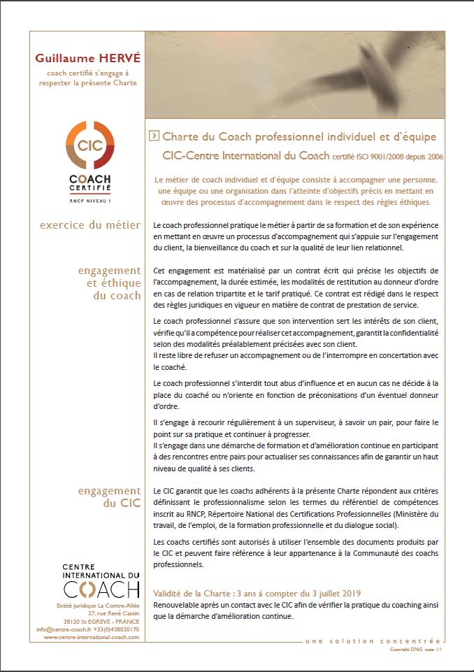 Charte CIC