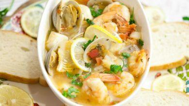 صورة مطبخ غالية.. طبق من المأكولات البحرية لليلة مشتعلة في عيد الحب