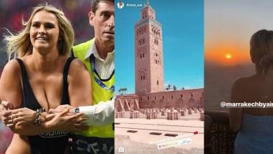"""صورة هذه الأماكن التي زارتها """"كينزي"""" مقتحمة الملعب خلال رحلتها بالمغرب"""
