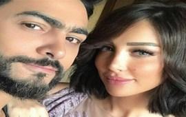 لأول مرة في سنة 2019.. تامر حسني مع زوجته بسمة بوسيل -صورة
