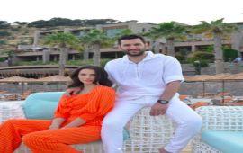 إيمان الباني وزوجها التركي يتعرضان لصدمة نفسية بسبب هذا الحادث