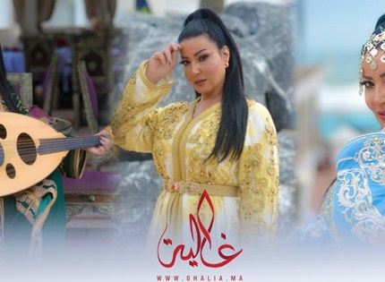 غالية ونص: النجمة سمية خشاب في أحدث جلسة تصوير في المغرب بالقفطان المغربي- صور
