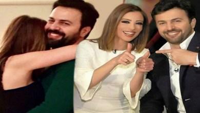 صورة صورة رومانسية للإعلامية وفاء الكيلاني مع زوجها تيم حسن