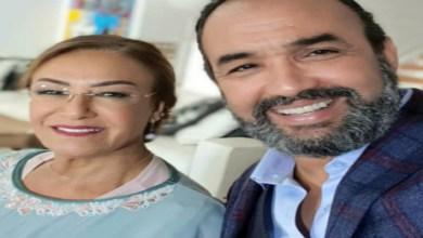 صورة رسالة من رشيد الوالي للممثلة نزهة الركراكي بمناسبة عيد ميلادها