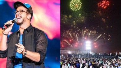 صورة بالصور: سعد لمجرد يشعل حفل الرياض بالبندير المغربي في أولى حفلاته من السعودية