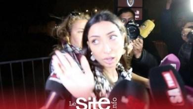 صورة لحظة خروج الفنانة دنيا بطمة رفقة زوجها من محكمة مراكش – فيديو