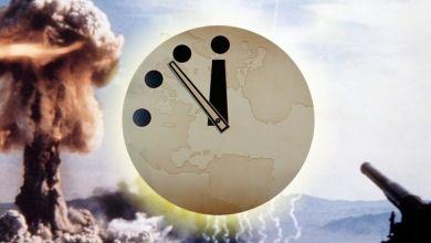 """صورة """"ساعة القيامة"""" نهاية العالم باتت قريبة أكثر من أي وقت مضى"""