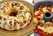 صورة وصفات رمضان.. طريقة سهلة وسريعة فلان بالفواكه والبسكوت -فيديو