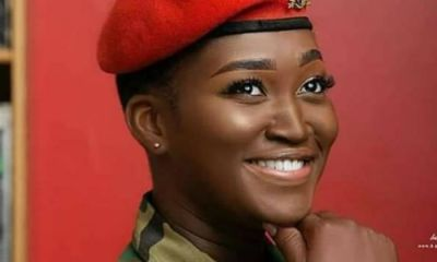 Meet The Beautiful Military Lady Who Has Caught All Attention On Social Media - Photos