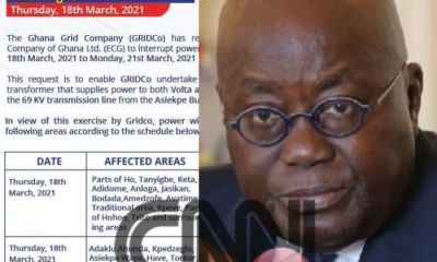 GRIDCo Officially Announces Akufo Addo's 'Dumsor' Timetable - See Full List of Affected Areas