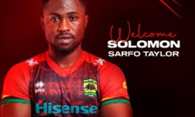Kumasi Asante Kotoko Officially Announces The Signing of Striker Sarfo Taylor