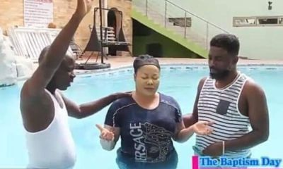 WATCH VIDEO: Nana Agradaa Being Baptized In A Swimming Pool Surfaces