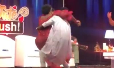 Date Rush: Watch The Funny Moment Ali And Shemima Fell On Stage