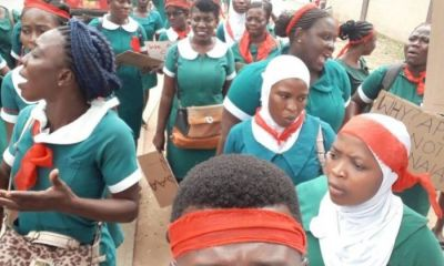 Just In: Massive Demonstration Hits Yendi College Of Health Sciences After Principal Did This To Students