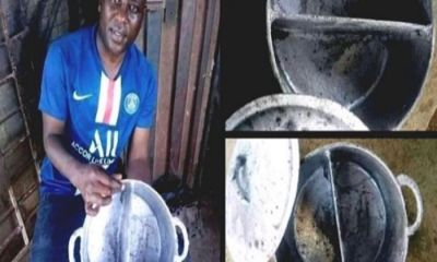 Man Develops 2-In-1 Pot To Cook 2 Food At The Same Time - Photos