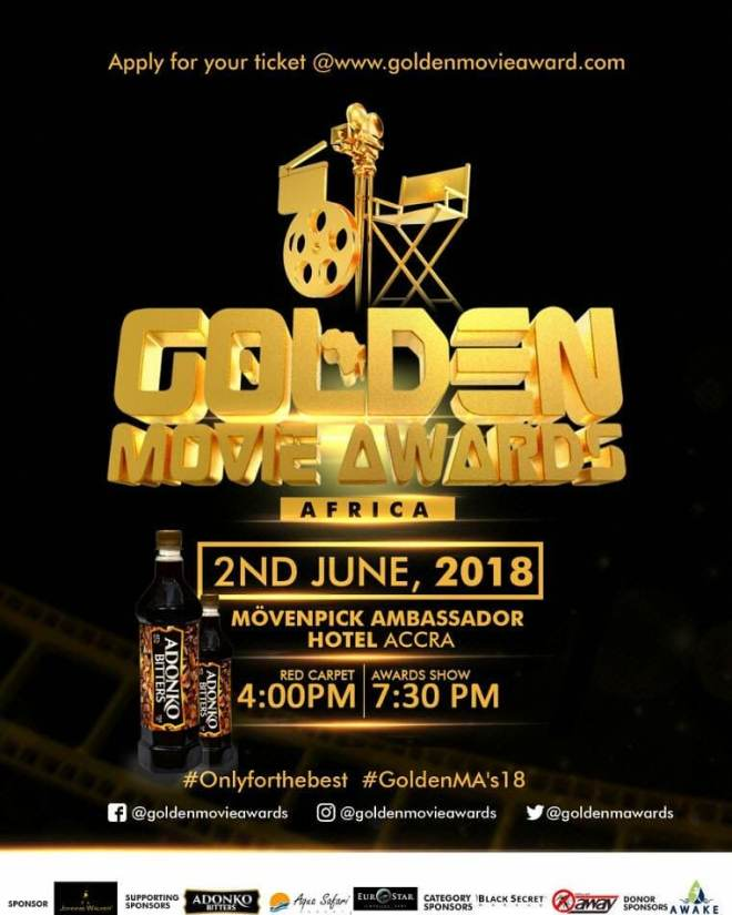Golden Movie Awards Africa 2018 comes off June 2