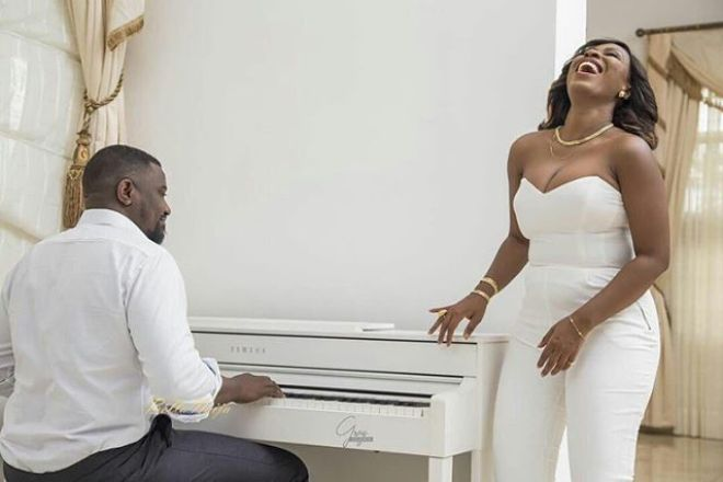 John Dumelo and Gifty Mawunya