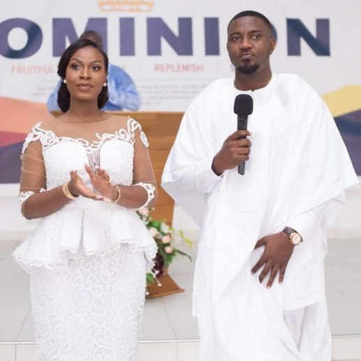 John Dumelo and wife Gifty Mawunya Nkornu