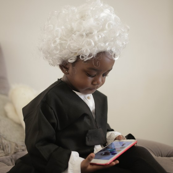 Sarkodie's daughter Titi dressed as a barrister