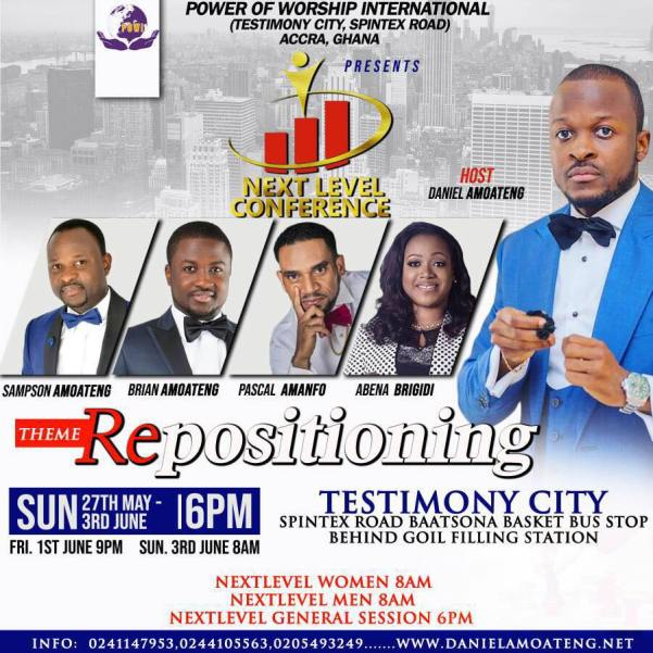 Pascal Amanfo gears up for Pastor Amoateng's Next Level Conference