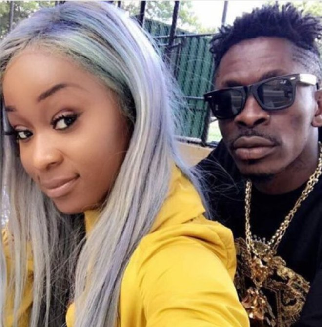 Efia Odo and Shatta Wale