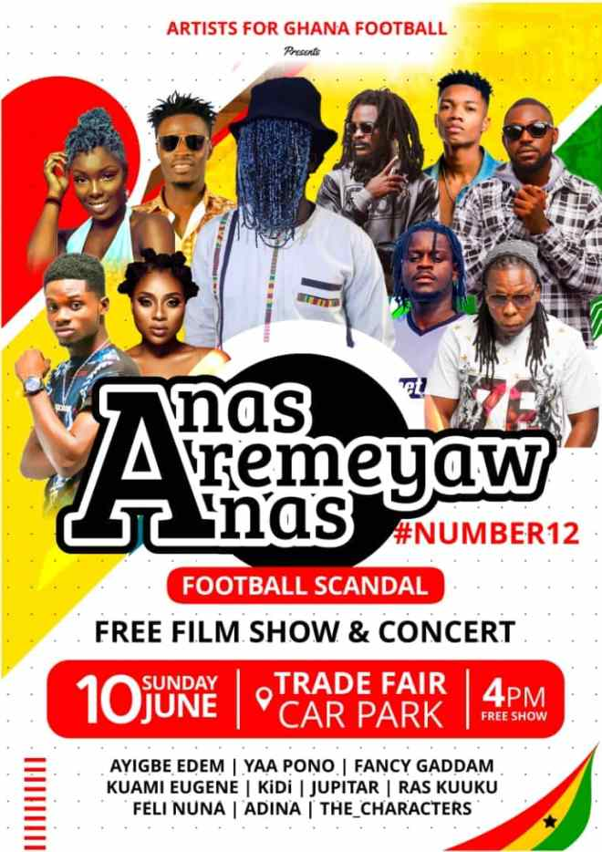 Yaa Pono, KiDi, Kuami Eugene, Fancy Gadam and others to thrill at free screening of Anas' 'Number 12' documentary June 10.