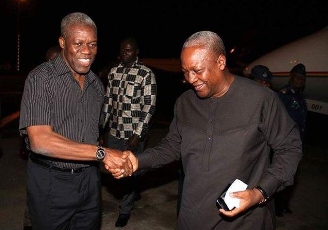 Ex-President Mahama and late Vice-President Paa Kwesi Amissah-Arthur