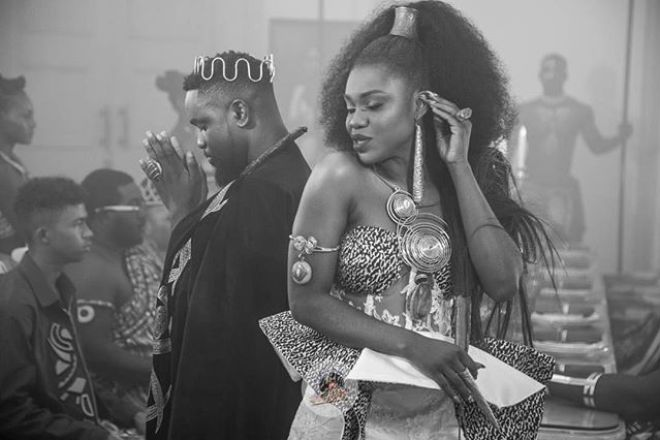 "Becca and Sarkodie in ""Nana"" music video"