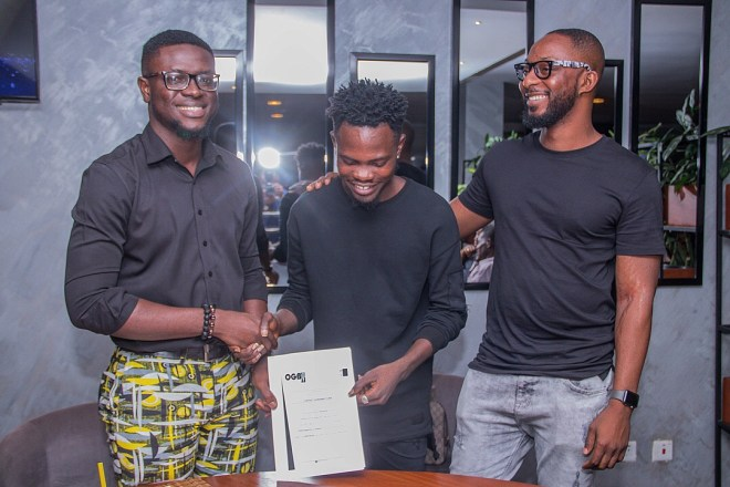 Rapper Ogidi Brown's OGB Music seals GHC 250k label deal with Fameye