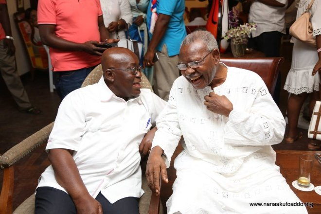 J.H Mensah and President Nana Addo