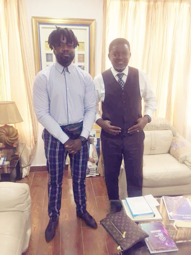 Lord Paper meets Bishop Charles Agyin-Asare after X-rated saga