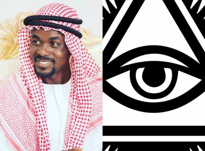 Nana Appiah Mensah shares Illuminati symbol
