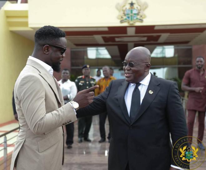 Sarkodie and Nana Addo
