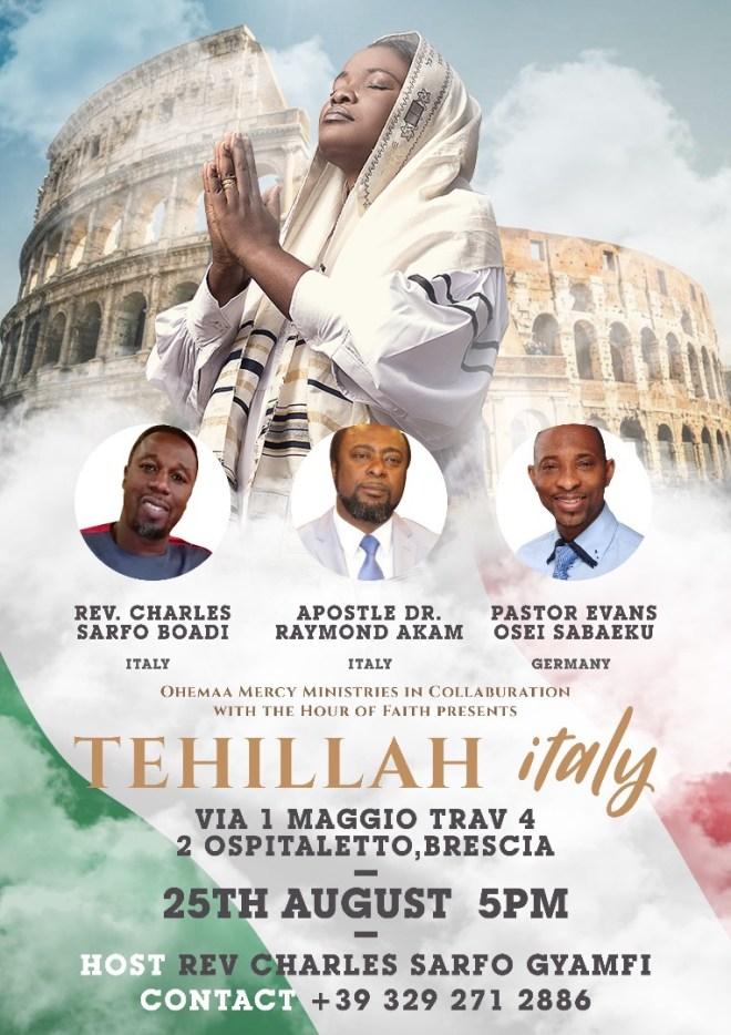 Ohemaa Mercy's Tehillah Experience in Italy