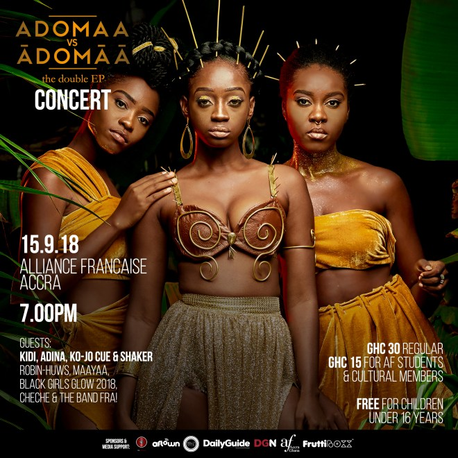 Adomaa lines up Adina, KiDi, Ko-Jo Cue, Shaker, others for Alliance Française concert Sept. 15