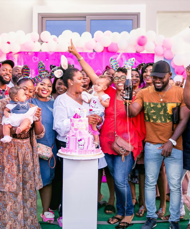 Yvonne Nelson's daughter's birthday party photos