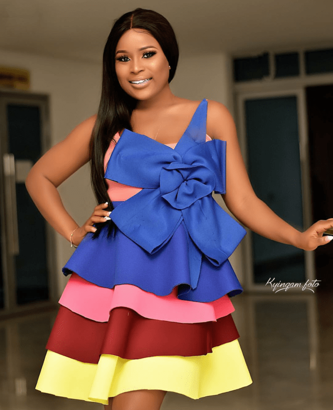 Berla Mundi served looks in this multicoloured dress