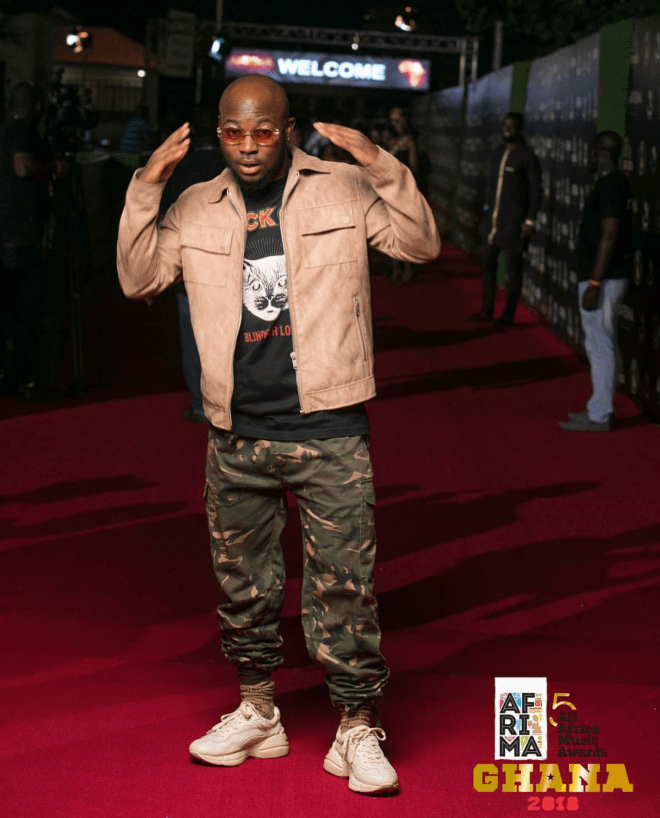 King Promise went all the way casual for the 5thAFRIMAwards