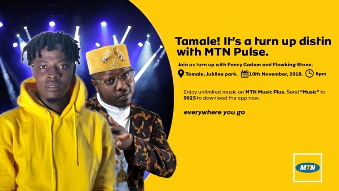 Fancy Gadam, Flowking Stone storm Tamale for MTN Pulse Invasion