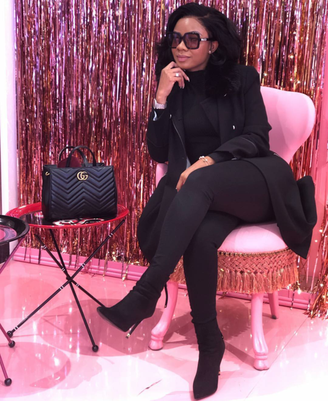 Serwaa Amihere slayed this all black look to perfection