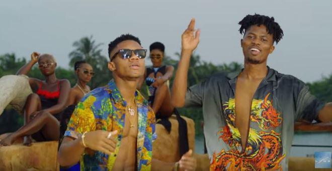 KiDi and Kwesi Arthur in Mr Badman video