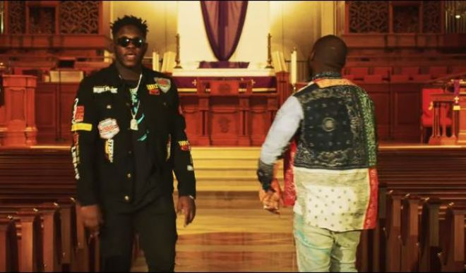 "Medikal and Davido in ""Father"" music video"