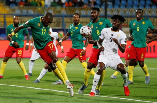 Thomas Partey against Cameroon