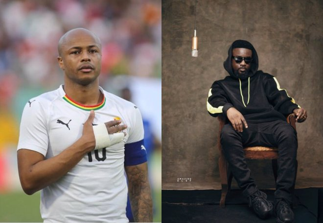 Sarkodie and Dede Ayew