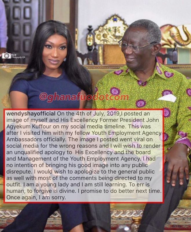 Wendy Shay's apology