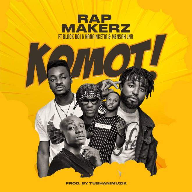 "Rising rapper Rapmakerz out with ""Komot"" featuring Blackboi, Nana Nketia and Mensah Jnr"