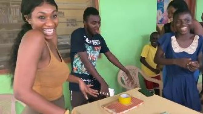 Wendy Shay at orphanage